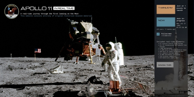 Image Apollo 11 in Real Time